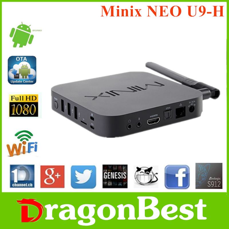 New promotion Minix NEO U9-H S912 2G 16G internet tv box mxv games online play car racing with cheapest priceAndroid 6.0 TV Box