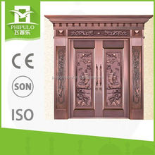 House main gate door with copper color for building project