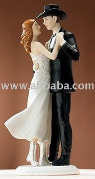 Western Style Wedding Cake Topper