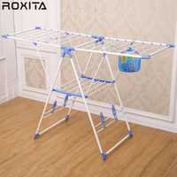 RX-CR109PS Outdoor Telescopic Tubular Baby Foldable Coating Clothes Rack Dryer Airer