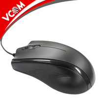 VCOM Wholesale Big Size Wired mouse Black Computer accessories