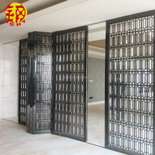 Stainless steel sliding folding removable accordion room divider partition wall screen for banquet