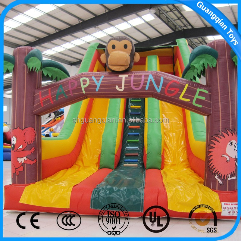 Guangqian Funny Animal Theme Giant Inflatable Slide With PVC Material