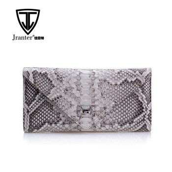 Real Python Snake Skin Purse Genuine Leather Women Envelope Clutch Bag