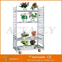Folding garden portable watering flower cart