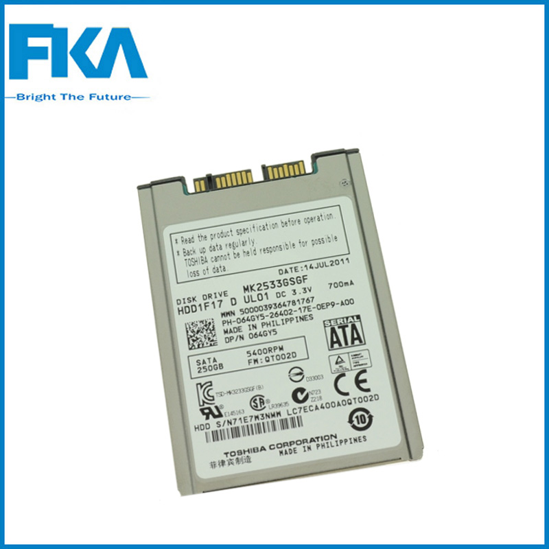 250GB 5.4K Rpm Sata 1.8 inch HDD 64GY5 Hard Disk Drive For Dell Latitude XT2