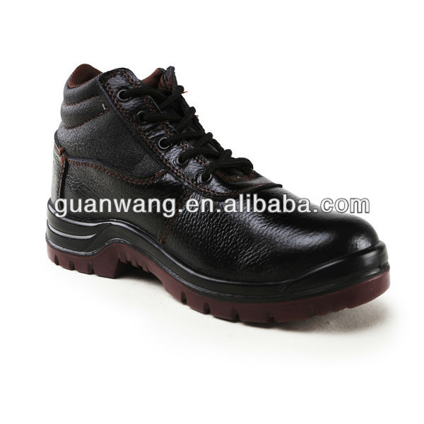 Safety Shoes Type Embossed Leather Safety Boots For Construction Man