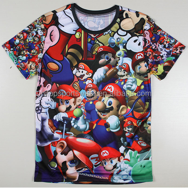 Summer Super Mario Designer T Shirts O Neck Short Sleeve Fashion Men T shirts The Beatles