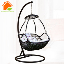 Rattan hanging bed outdoor swing chair hanging pod chair