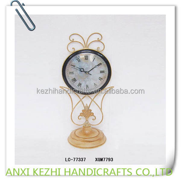 decorative iron table gift clock