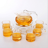 glass tea set !Haonai hot sale clear and funny glass tea set