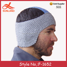 F-1652 new design fashion knitted headbands for men special ear warmer