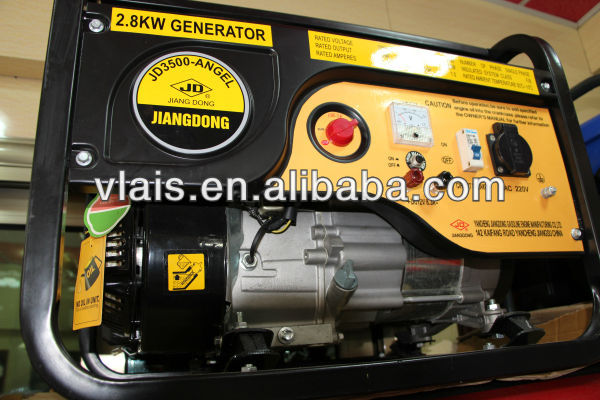 Manufacturer 3kw jiangdong generator 100% copper coil jd gasoline generator