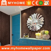 Country style wood design paintings sound deadening wallpaper
