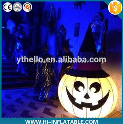 New Design Pumpkin Balloon, LED Lighting Giant Inflatable Pumpkin For Halloween Decoration