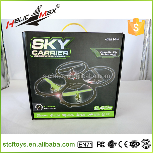 Radio Control Toy RC Drone with 2MP HD Camera 2.4G 4-axis UFO Aircraft Quadcopter