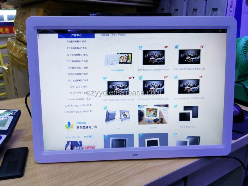 Nixplay supplier 15 inch Wi-Fi Cloud Digital Photo Frame Android App, Email, Facebook, Dropbox, Instagram, Picasa