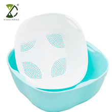 2 In 1 High Quality Plastic Colander Vegetable Wash Basket Rice Rinse Bowl And Strainer For Kitchen Use
