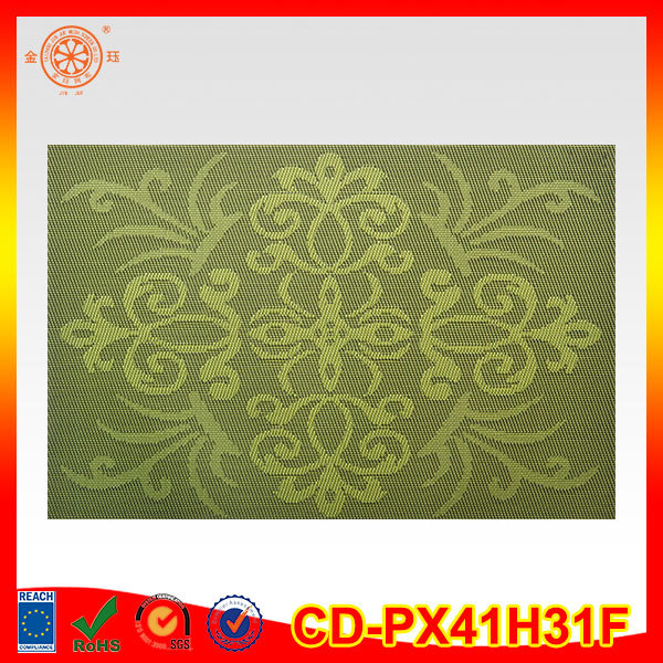 flowers printing hardboard cork backed PVC placemats
