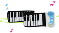 Roll Up Digital Midi Electronic Soft Keyboard Piano--49 keys/ roll up electric piano keyboard/ Portable Roll Piano keyboard