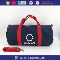 factory dark blue 16 or 20 ounce canvas duffle bag for man and women