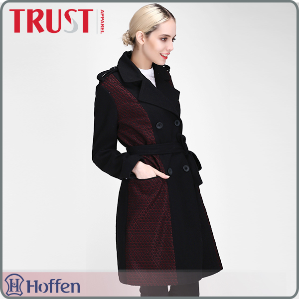 Simple heated comfortable wholesale premium wool coat