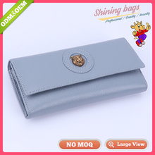 New Added Products Alibaba Express Usa Style Special Hardware Fashion Free Samples The Woman Leather Wallet