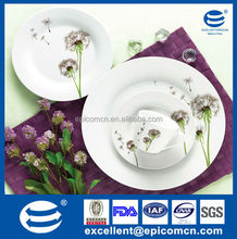 cheap 19pcs porcelain tableware ceramic dandelion dinnerware
