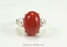 lots 925 sterling silver ring, adjustable sterlinf silver rings, big red agate stone ring for ladies( ring blank supply)