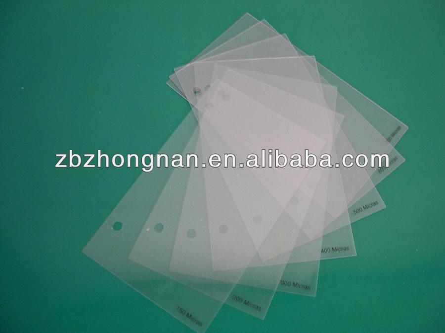 Rigid Clear PVC Film For Shirt Collar Butterfly