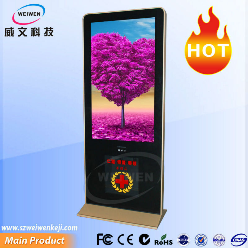55inch floor standing hd lcd kiosk stand lcd touch screen