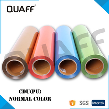 QUAFF Korea Quality PU heat transfer vinyl cutting sheets wholesale tshirt vinyl shirt vinyl