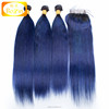 1b Blue Brazilian virgin remy body wave hair weft, blue hair extensions, blue black hair weave
