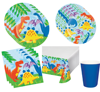 Wholesale dinosaur themed party supplies and favors set for kids, dinosaur party supplies party tableware for kids