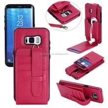 Credit card PU leather case cover for Samsung Galaxy S8