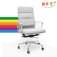 2017 foshan leather padded swivel seminar office visitor chair with slide castors