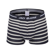 Wholesale Good Quality Customized Men's Yarn-dyed Stripe Cotton Mens Sex Boxer Shorts With No Open Fly