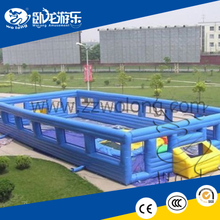 Easy assamble Inflatable Blue Football Court/the inflatable sport games
