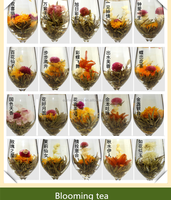 2016 Chinese Artistic Blooming Flower Tea Made of Gomphrena Globosa and green tea