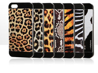 2014 new design Luxury hybrid case animal leather case for iphone5