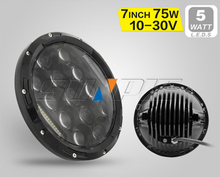 7'' led headlights with 12 months warranty led headlamp DOT approved led auto headlight are on sale for Jeep
