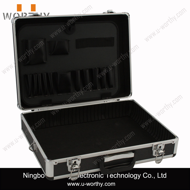 Multi-functional Aluminum Trolley Cosmetic Case, Professional Hairdresser Carrying Case with Wheels