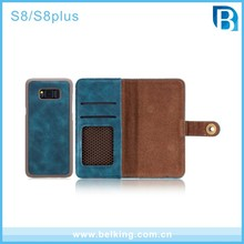 Separated Type Vintage Wallet Phone Case for Samsung Galaxy S8 PU Leather Case