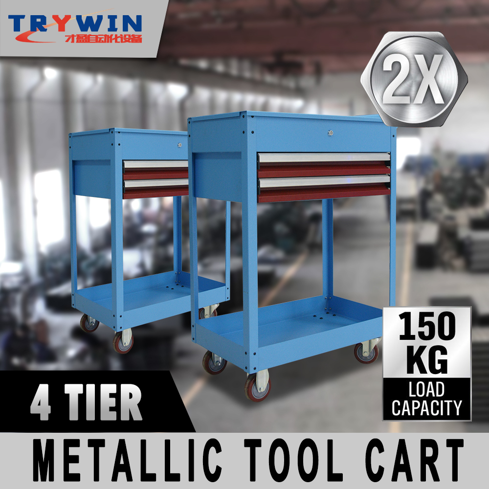 Hand Bag Mobile Metal Workshop Trolley Garage Tool Cart Cabinet for Workshop
