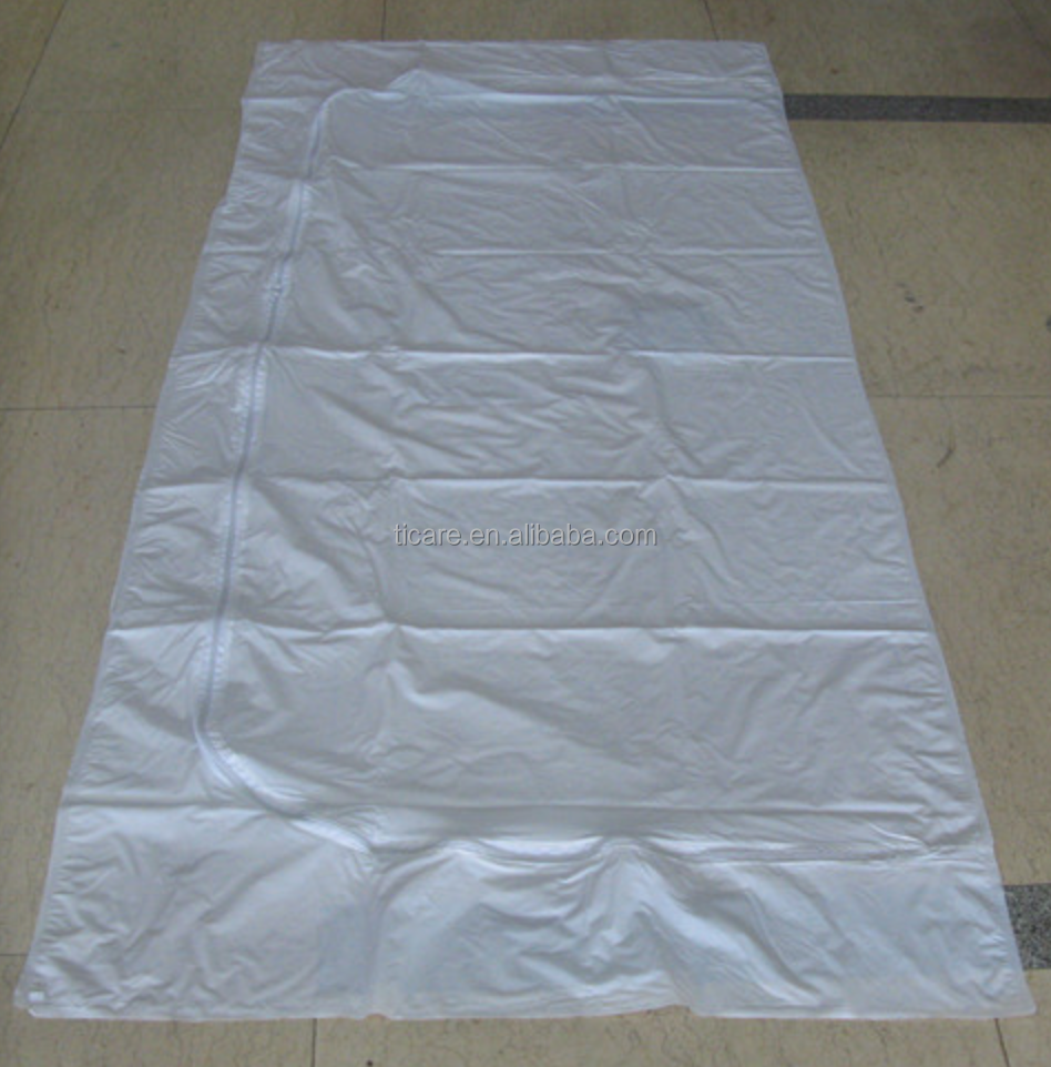 White PVC Body bag Without Handle