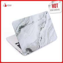 Matte Rubber Coated Soft Touch PC Material Hard Case Cover for MacBook Air 13.3 inch Model A1369 A1466 White Marble