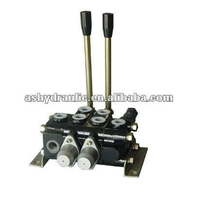 Sectional hydraulic manual directional control valve
