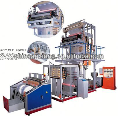 Three layer stretch food cling pvc food wrap film making machineruian film blowing printing machine