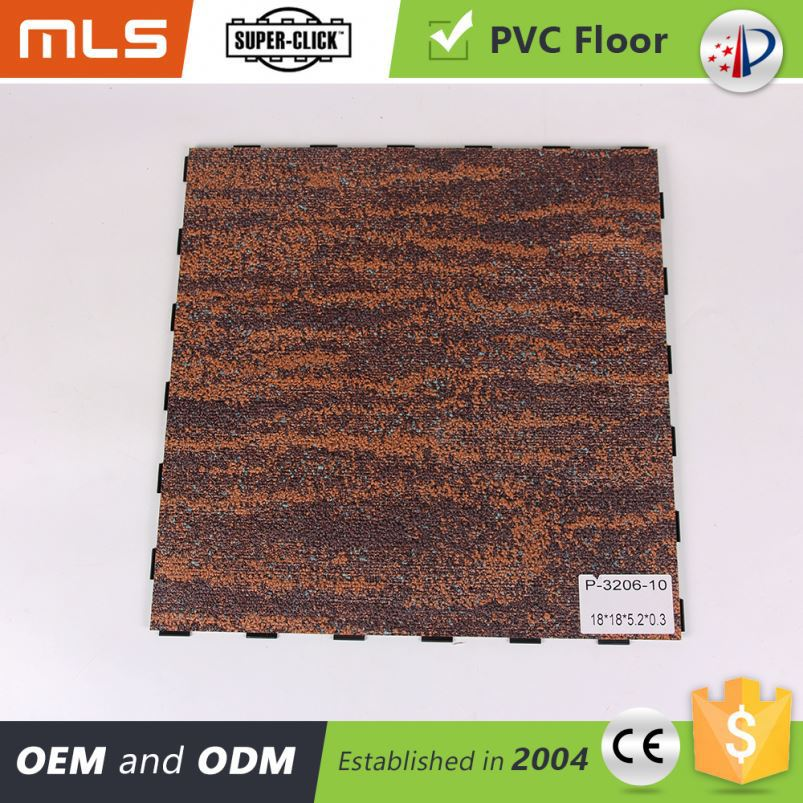 Newest Looks Like Carpet Floor Pvc Recycled Waterproof Click Vinyl Flooirng