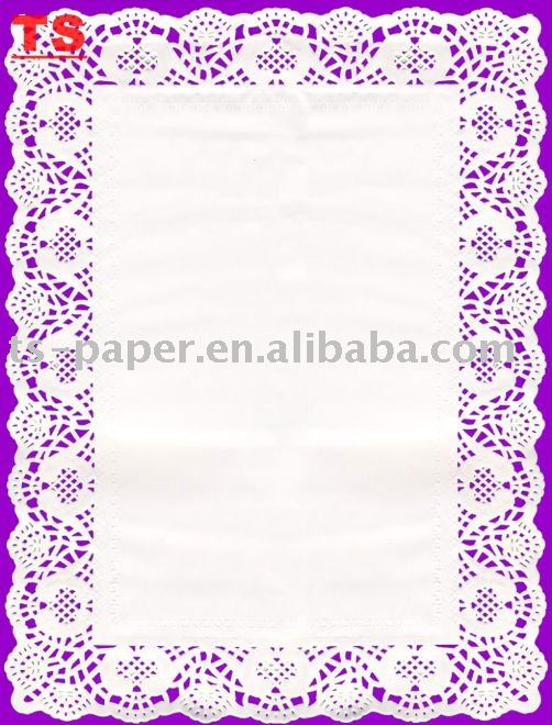 paper doilies in white color